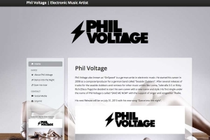 Website für den Electronic-Music Producer Phil Voltage