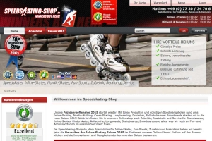 Online-Shop Speedskating-Shop.de